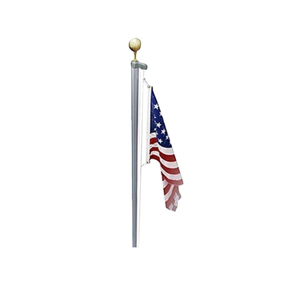 Luxury life USA US U.S. valley forge 4x6 flag sectional 25 ft Heavy Duty Residential flagpole pole guaranteed for life