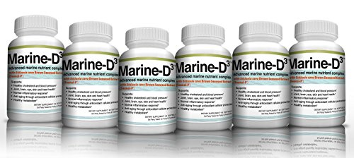 Marine-D3 340mg Anti-Aging Dietary Supplement with Vitamin D3, Omega 3 Fish Oil and DHA by Marine Essentials (360 Soft Gel Caps)