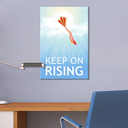 Inspirational Quotes Keep on Rising Office