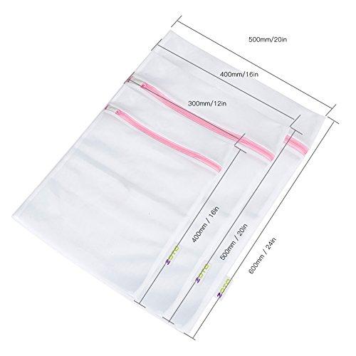 ZOTO Laundry Wash Bag, 6 Set Mesh Dedicates Bra Washing Bag with Zipper, Lingerie Garment Bag for Net Washer Dryer Washing Machine Protect Underwear,Hosiery,Sock,Baby Cloth,Travel Laundry Bag by ZOTO (Image #1)