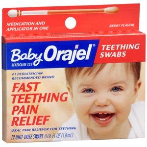 Orajel bébé de dentition écouvillons 12 CHAQUE