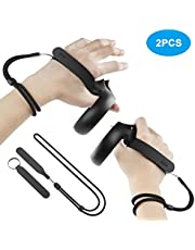 [Newer Version] KIWI design Upgraded Grips Knuckle Strap for Oculus Quest/Oculus Rift S Touch Controller Accessories with Adjustable Wrist Strap (1 Pair)