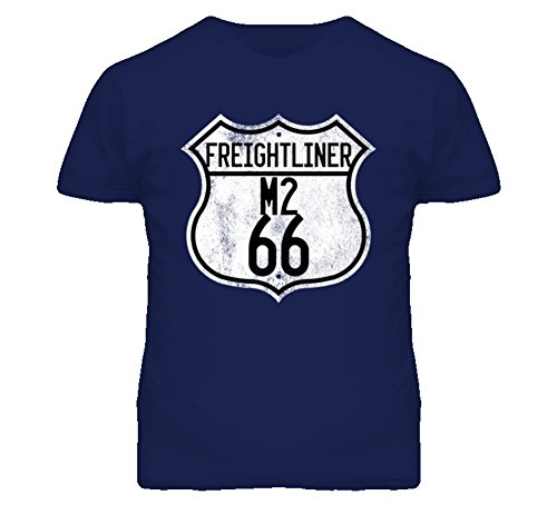 Freightliner Argosy Business Class M2 Route 66 Highway Sign Distressed Look Trucker T Shirt XL (Freightliner Apparel)