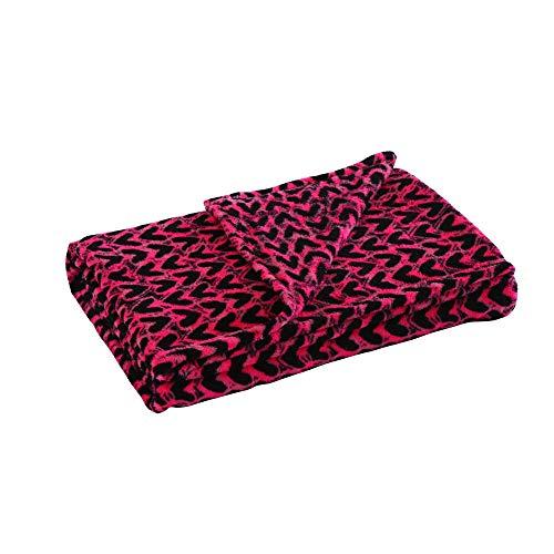 (MarCielo Fleece Throw Blanket, 50 x 60 Inch Fleece Blanket, Black Heart)
