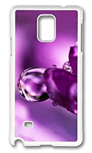 Adorable flower pink water drop Hard Case Protective Shell Cell Phone For Case Samsung Galaxy S5 Cover - PC White