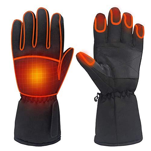 Bsopem Elektrische verwarmde handschoenen, waterdichte oplaadbare warme thermische handschoenen met touchscreen functie…