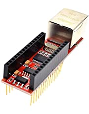 ENC28J60 Ethernet Shield V1.0 لـ Arduino Nano V3 Ethernet Shield RJ45 HR911105A وحدة ويب سيرفر مع دبابيس
