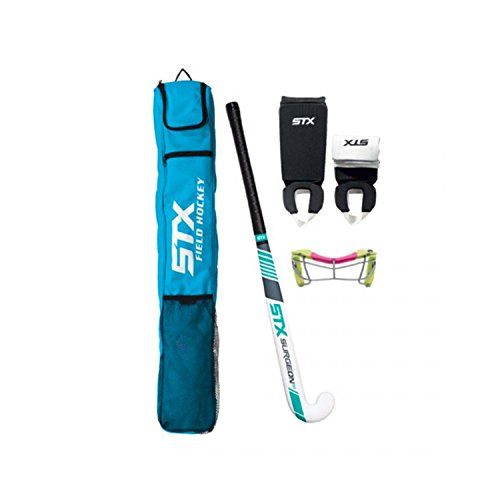 (STX FH 893 XX/30 Field Hockey Rookie Starter Pack with Goggles, Electric/Lime/Pink, 30)