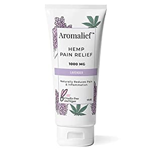 Aromalief Hemp Cream with Lavender Aromatherapy – 1000MG Made in USA – Relieve Stress, Muscle & Joint Pain- Menthol…