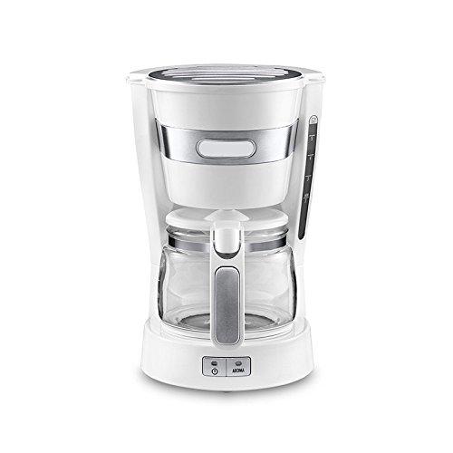 WEDEHANGE Machine à Café Mini Filtre à Goutte-à-goutte Semi-automatique Cafetière Américaine,White