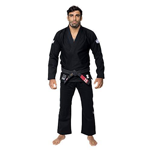 KINGZ IBJJF Mens - The One | Brazilian Jiu Jitsu Gi | Black A2