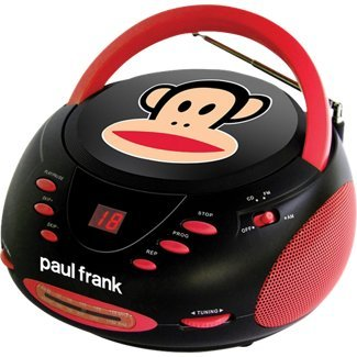 Paul Frank PF224BK Stereo CD Boombox with AM/FM - Frank Price Paul