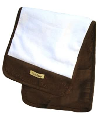 L'oved Baby Burp Cloth Plush, Brown, One size