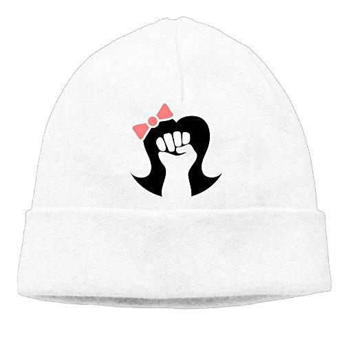 Fight Club Girl Costume (Uanjuzn Girl Power Feminist Symbol Men/Women Cool Fashion Hedging Hat Wool Beanies Cap White)