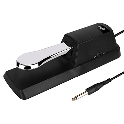 Mugig Universal Sustain Pedal, Classic Piano Style Foot Pedal for Electronic Keyboards Digital Piano