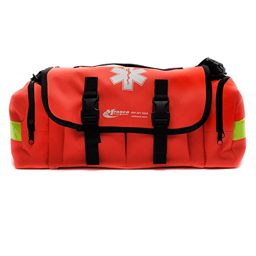 6. MFASCO – First-Aid Kit – Complete Emergency Response Trauma Bag – For Natural Disasters (Orange)