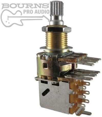 4 Bourns Pro 500K Audio Taper Mini Pots w//Split Knurled Shaft for Guitar /& Bass