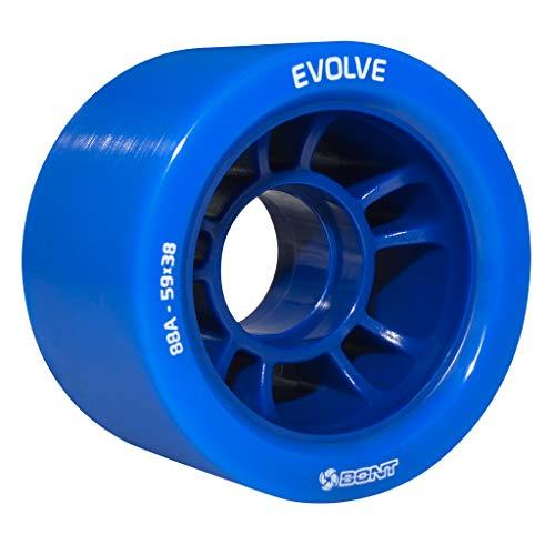 Bont Skates | Evolve Roller Skate Derby Wheel | Indoor Quad Speed Skating (Blue 88A)