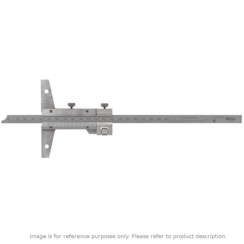 0-200mm Mitutoyo 527-102 Vernier Depth Gauge with Fine Adjustment