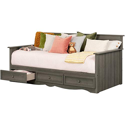 (South Shore 11687 Savannah Daybed with Storage, Gray)