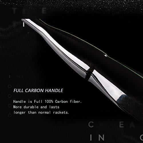 Senston N80-YT Jointless Badminton Racket Single High-Grade Badminton Racquet Carbon Fiber Badminton Racket Green with Racket Cover and Overgrip by Senston (Image #5)