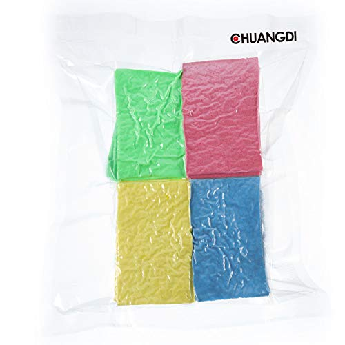 Chuangdi 12 Pack Cleaning Scrubbing Sponge, Kitchen Cellulose Dish Sponge for Removing Hard Dirt, Oil, Non-Scratch on Windows Non-Stick Pan, Assorted Colors, Size 12 x 7.6 x 1.5 cm by Chuangdi (Image #7)