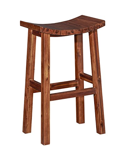 Powell Saddle - Powell D1021B16BS Carmen Saddle Bar Stool