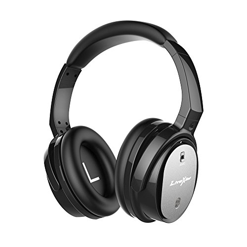 Noise Cancelling Headphones LiteXim QW-07 Headphones with microphone ,Wireless&Wired Bluetooth Earphones Over Ear, CSR with apt-X,Comfortable Protein Earpads for Travel, Work, Game