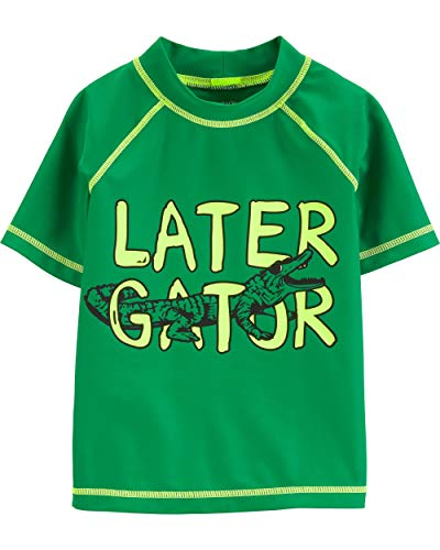 Carter's Toddler Boys' Rashguard, Leather Gator, 5T