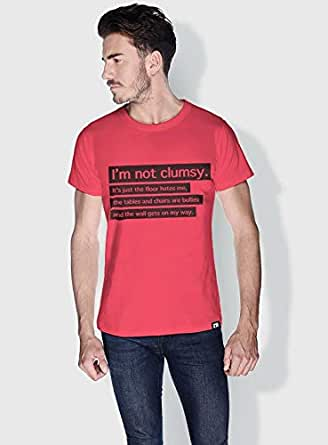 Creo Im Not Clumsy Funny T-Shirts For Men - Xl, Pink