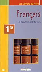 1ere Français Dissertation carnet