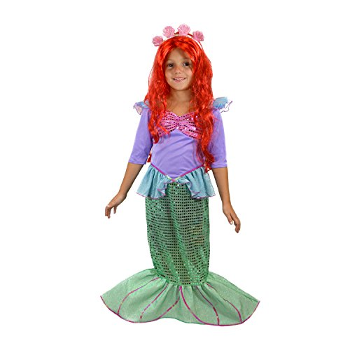 Spooktacular Creations Deluxe Mermaid Costume Set (Toddler 3-4)