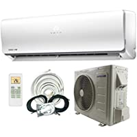 SuperAir 9000 BTU 24.5 SEER (3/4 TON) Ductless Mini Split System Inverter Air Conditioner with Heat Pump 110V - FULL SET