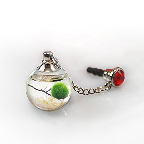 Marimo Lucky Nano Charm Phone Jack -- Coolest Eco Dust Plug for your Mobile, iPad, Mac, Laptop - Prevents entering of dust, moisture and dirt - Carry a piece of nature - Easy to clean and use