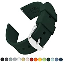 Archer Watch Straps Silicone Quick Release Soft Rubber Replacement Watch Bands for Men and Women (British Racing Green, 22mm)