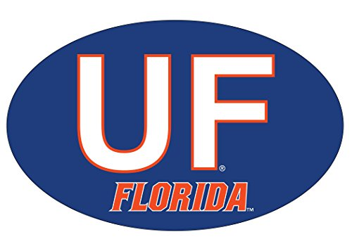 FLORIDA GATORS BLOCK LETTER DESIGN OVAL DECAL-FLORIDA STICKER-NEW FOR 2016
