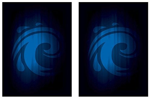 Legion SUPER Iconic WATER 100 DOUBLE Matte Finish BLUE WAVE Sleeves (fits Magic / MTG, Pokemon Cards)