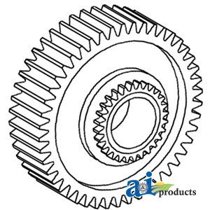 Ford New Holland Tractor 3000, 3600, 3610 Output Shaft Assembly Gear Part No: C5NN7145A, 83960022, E6NN7145AA, AME6NN7145AA