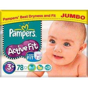 pampers active fit size 3 4 9kg jumbo pack 78 per pack baby. Black Bedroom Furniture Sets. Home Design Ideas