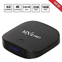 Leelbox MXQ Pro Android 6.0 TV BOX 4K/2+16GB/2.4G+5G Wifi/BT 4.0 android tv box Support 4K/Full HD/H.265