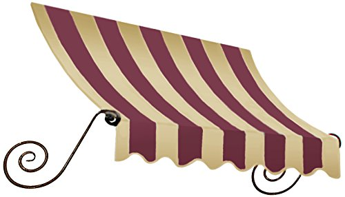 Awntech 5-Feet Charleston Window/Entry Awning, 24 by 36-Inch, Burgundy/Tan (Designer Window Awning)