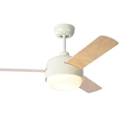 YLCJ Ventiladores de techo invisibles de 42 pulgadas con lámpara ...