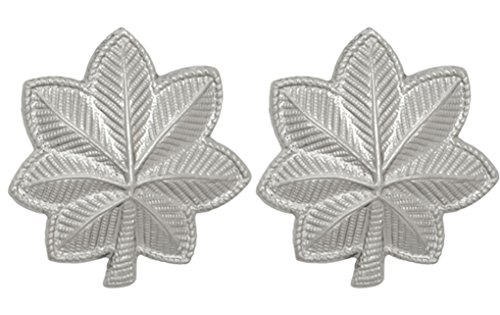 U.S. Army Metal Pin On Officer Rank NON-SUBDUED (SHINY) - 1 PAIR (O5 - LT Colonel)