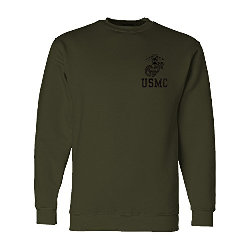 Eagle Globe and Anchor USMC Sweatshirt XLarge Military Green ()