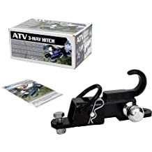 "Komodo ATV ATV3WH22 ATV 3-Way Receiver Hitch with 2"" Hitch Ball"