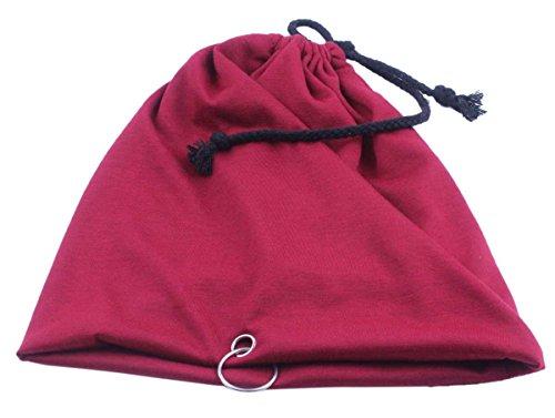 Unisex Baggy Thin Hip-hop Soft Stretch Cotton Slouchy Beanie Hat Skull Cap (Burgundy) (Burgundy Felt Bonnet)