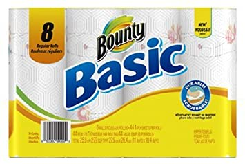 Bounty Basic toalla de papel retractilado 44 1 capas hoja: Amazon.es: Hogar