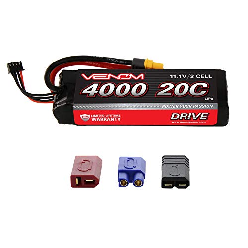 Venom Group International 1580 20C 3S 4000mAh 11.1V LiPo Hard Case with Universal - 20c Battery Lipo 11.1v