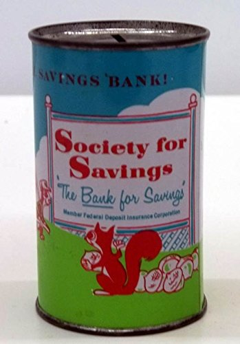- Society for Savings metal still bank ca 1960s Hartford CT