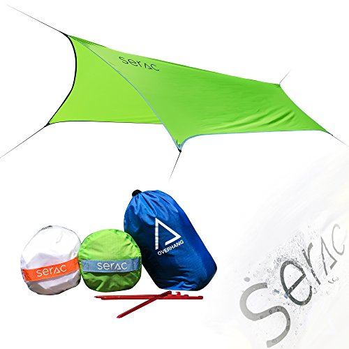 Serac [#1 Hammock and Tent Tarp] Ultralight Hammock Rain Fly and Shelter Perfect for Waterproof...